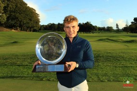 Robert Moran, winner of the Bruen Carr Trophy (best U25) and runner-up at the Munster Stroke Play at Cork Golf Club. Picture: Niall O'Shea